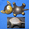 Bronze kitty from Baller