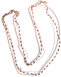 CarnelianTwisted rice bead necklace