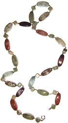 Multi-coloured faux stone bead necklace
