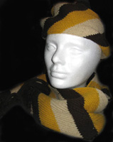 Striped Hat and Scarf Set from Hong Kong