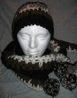 Hand-Crocheted Hat and Scarf Set