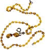 Sarah Coventry amber Lucite necklace