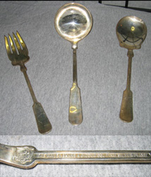 Bailey Banks  Biddle on Three Silverplate Serving Pieces From Bailey  Banks And Biddle  One