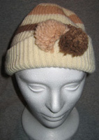 crème and Cocoa Pom Pom Hat