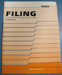 Filing:  A Course in Modern Methods for the Business Office, by Evelyn Gilchrist Cogswell