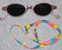 Mauve Sunglasses and Rainbow Cord