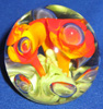 Art glass trumpet flower paper weight