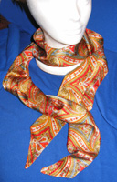 scarf red paisley