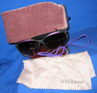 Sunglasses, Case and Foster Grant Cleaning Cloth