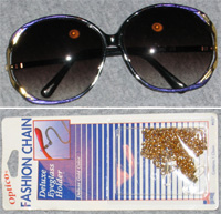Uno Soleil Sunglasses and Optico Chain